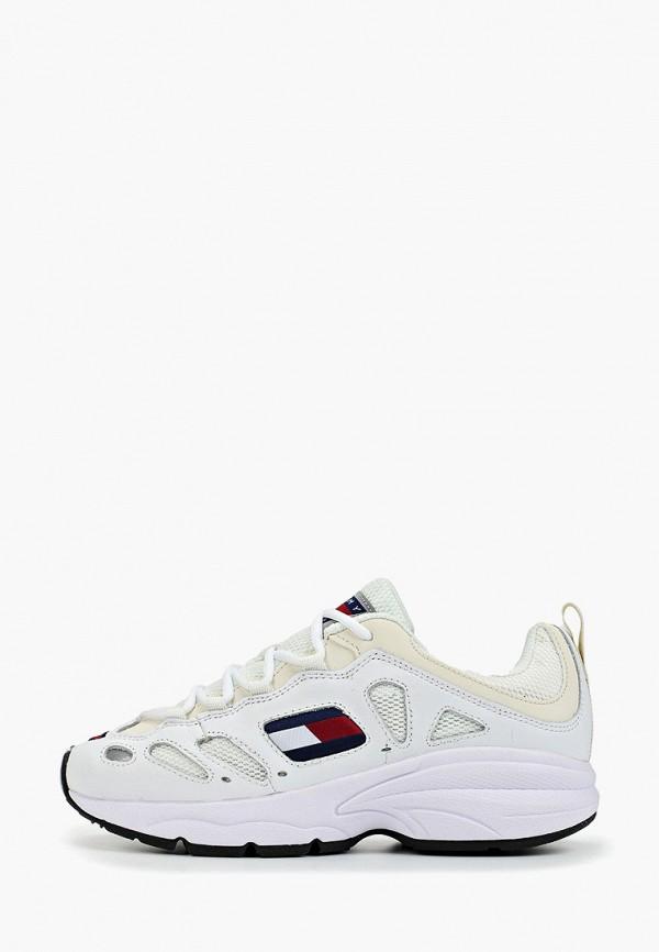 Фото - женские кроссовки Tommy Jeans белого цвета