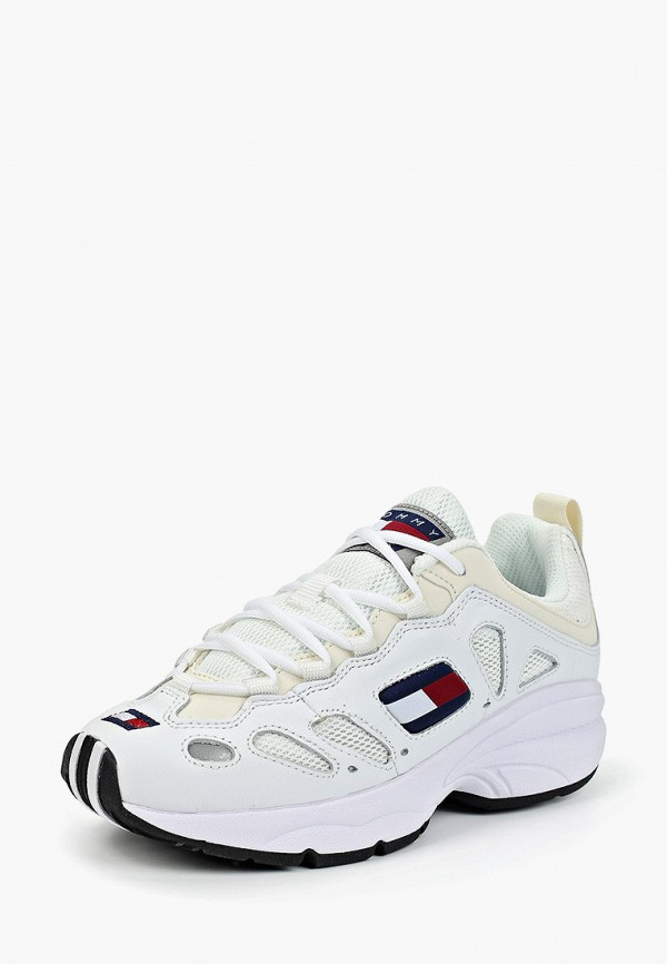 Фото 2 - женские кроссовки Tommy Jeans белого цвета