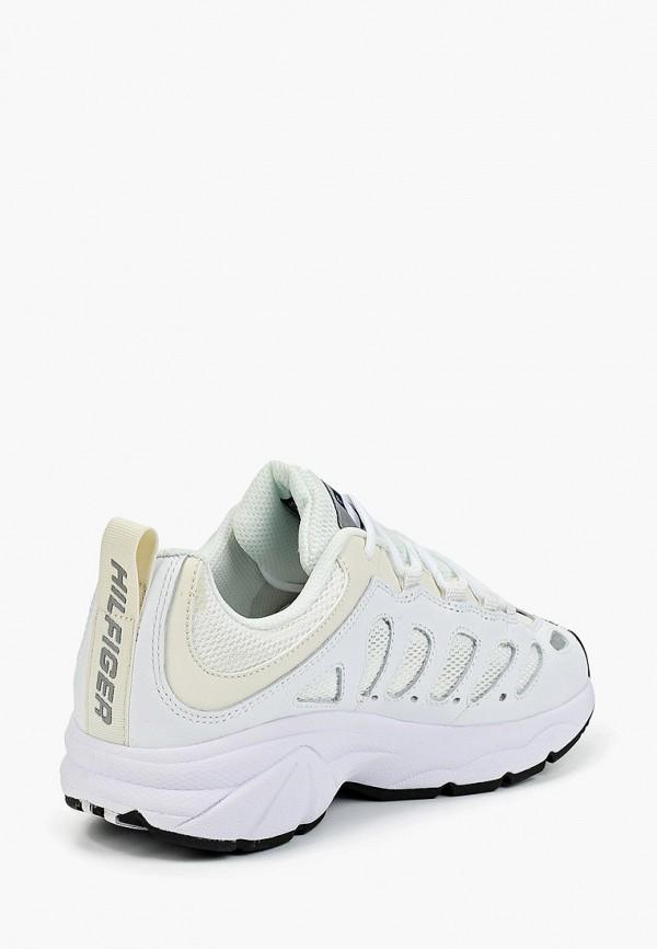 Фото 3 - женские кроссовки Tommy Jeans белого цвета