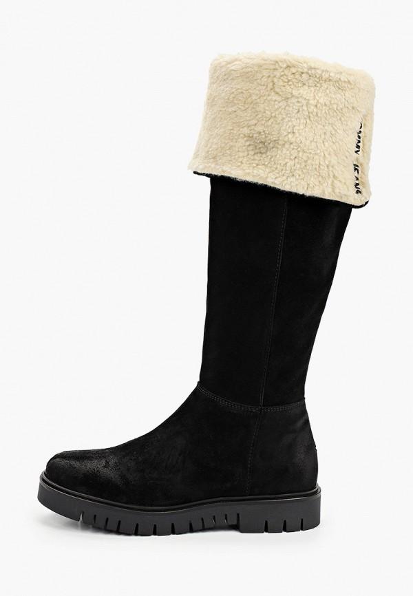 женские сапоги tommy jeans, черные