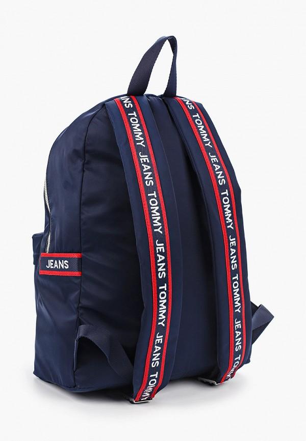 Фото 2 - мужской рюкзак Tommy Jeans синего цвета