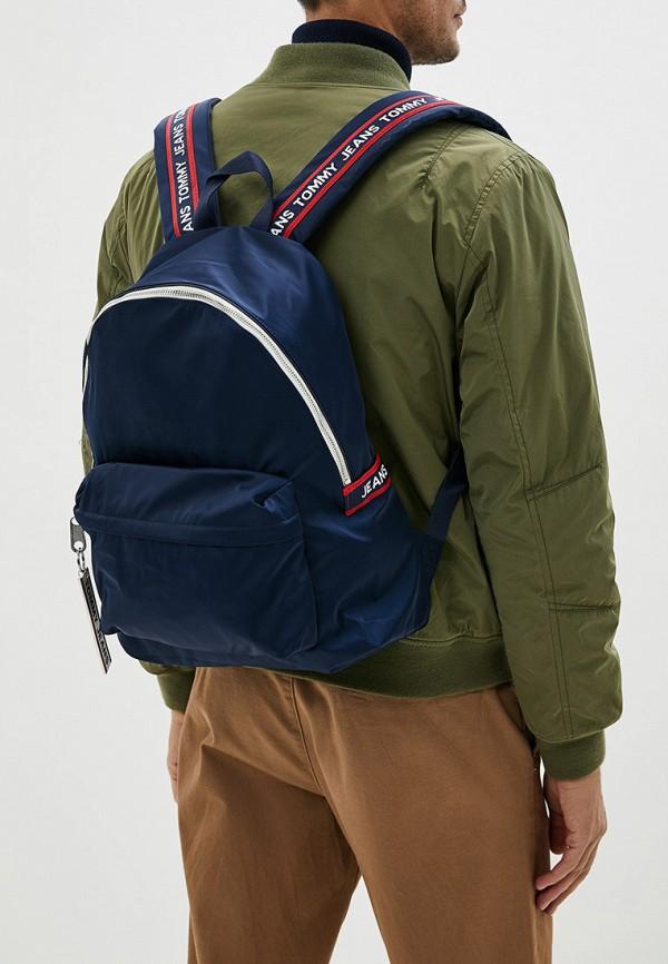 Фото 4 - мужской рюкзак Tommy Jeans синего цвета