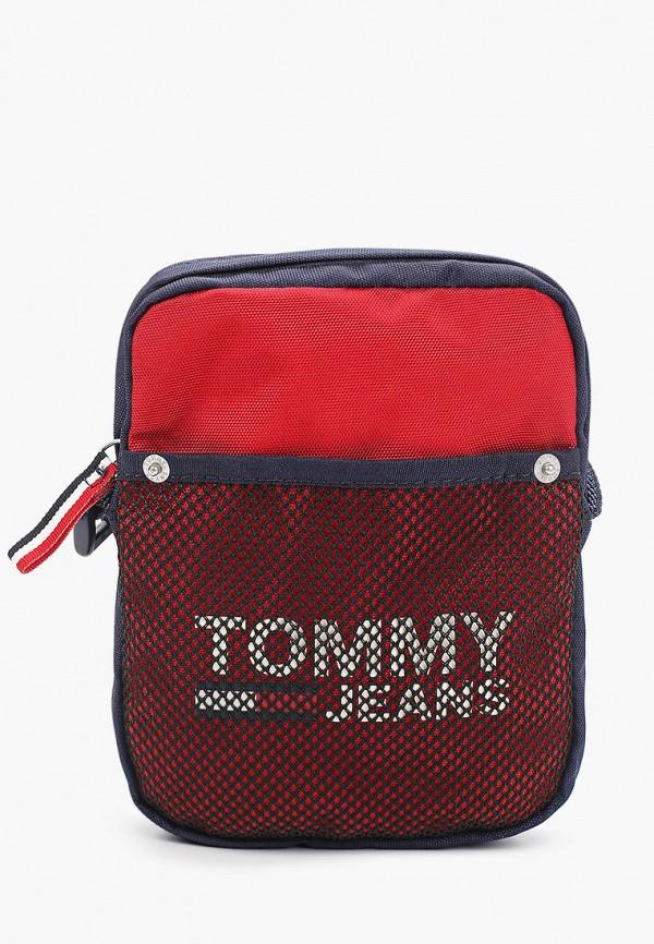 мужская сумка tommy jeans, красная
