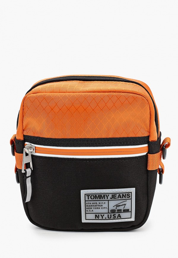 мужская сумка tommy jeans, оранжевая