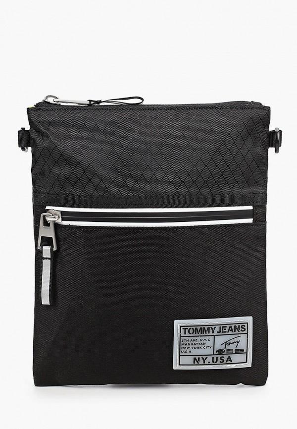 мужская сумка tommy jeans, черная