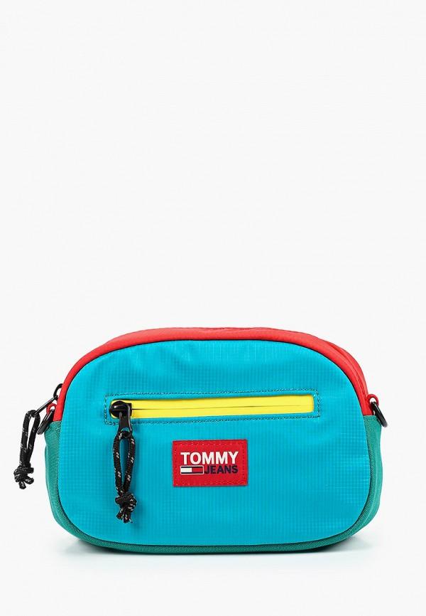 мужская сумка tommy jeans, разноцветная