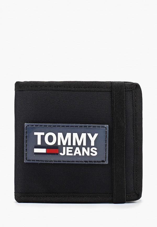 женский кошелёк tommy jeans, черный