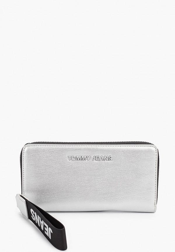 Фото - женский кошелек или портмоне Tommy Jeans серебрянного цвета