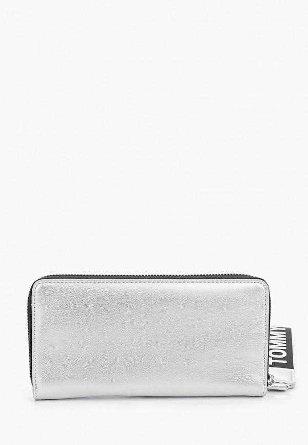 Фото 2 - женский кошелек или портмоне Tommy Jeans серебрянного цвета