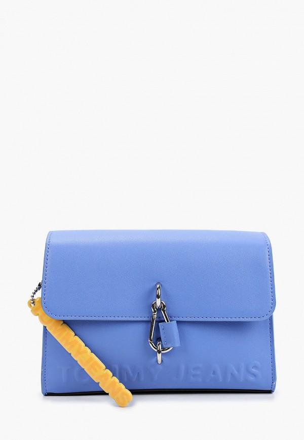 женская сумка tommy jeans, синяя