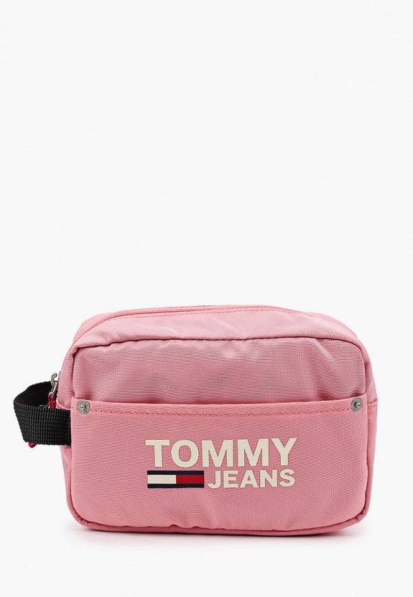 женская косметичка tommy jeans, розовая