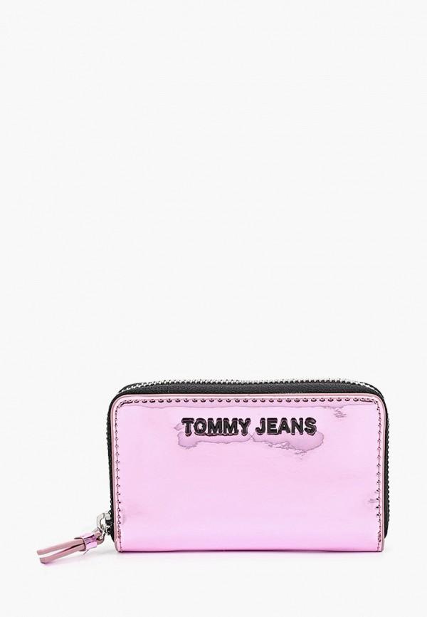 женский кошелёк tommy jeans, розовый