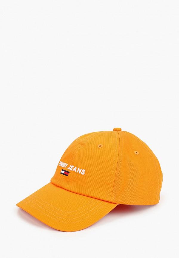 мужская бейсболка tommy jeans, оранжевая