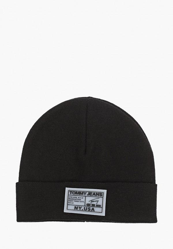 мужская шапка tommy jeans, черная