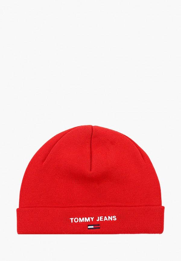 женская шапка tommy jeans, красная