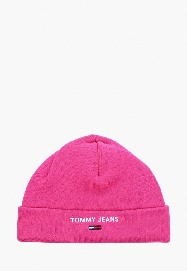 женская шапка tommy jeans, розовая