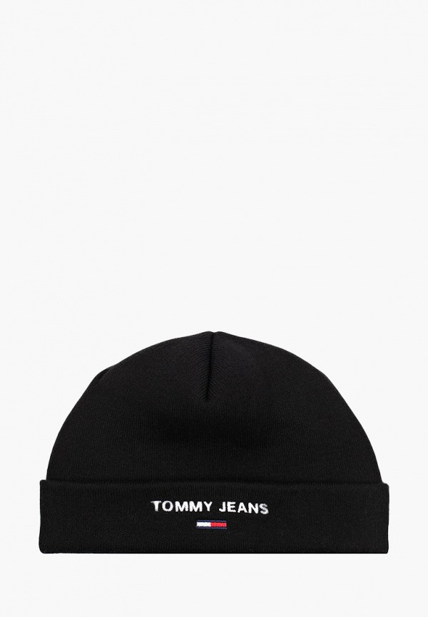 женская шапка tommy jeans, черная