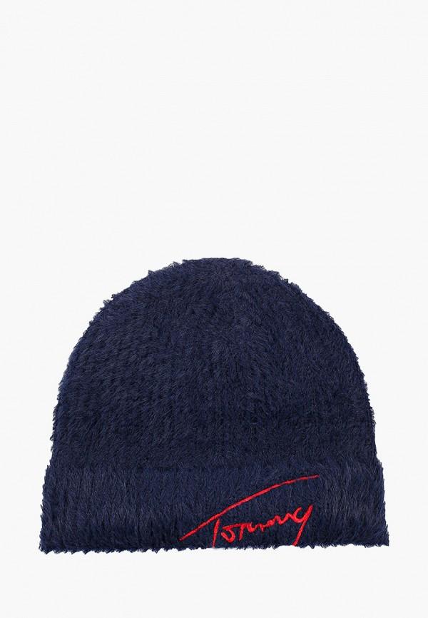 женская шапка tommy jeans, синяя