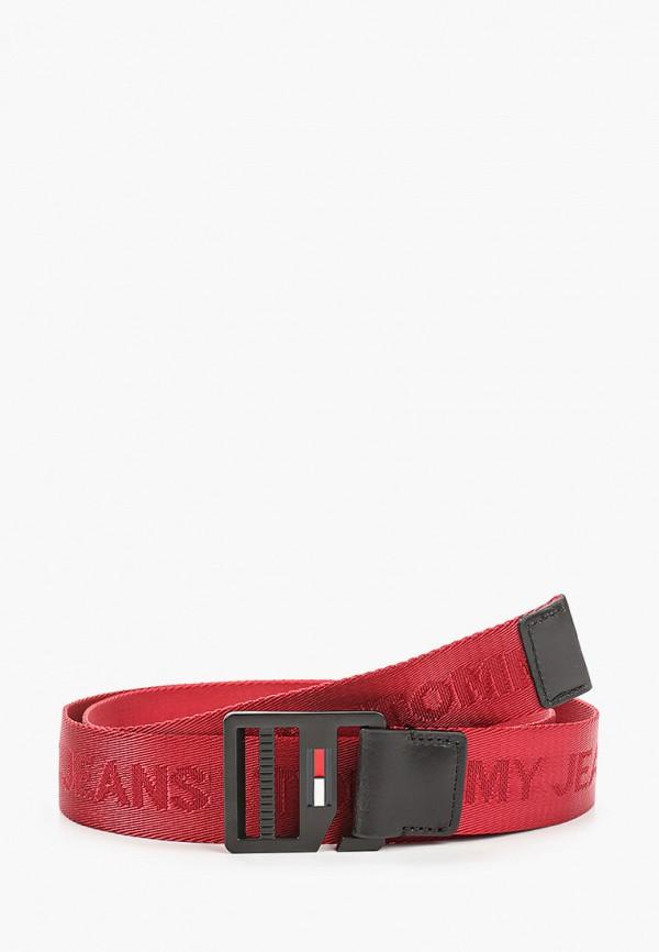 мужской ремень tommy jeans, бордовый