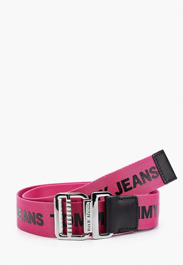 женский ремень tommy jeans, розовый