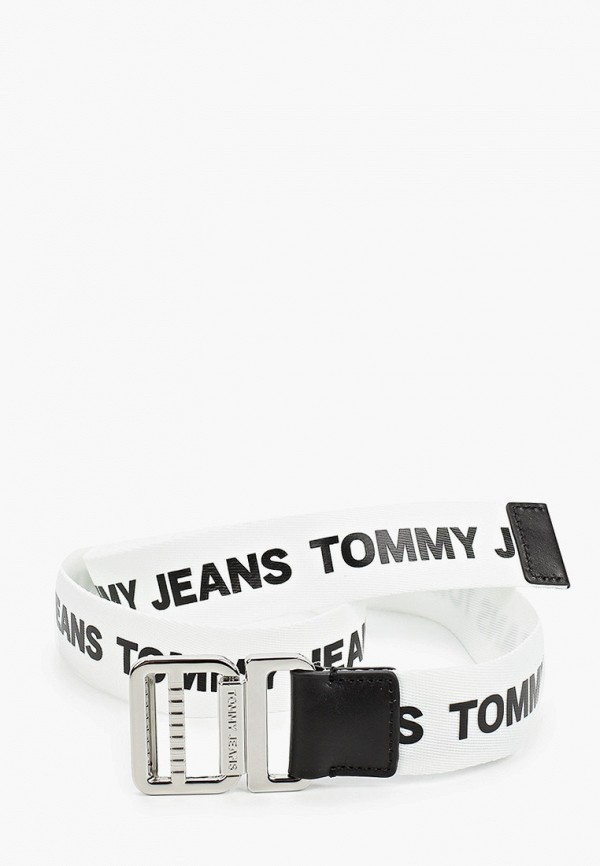 женский ремень tommy jeans, белый