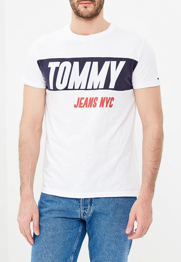 Футболка Tommy Jeans Tommy Jeans TO052EMAIIE2 uglybros 03 fireproof lining motorcycle jeans riding jeans fashion men s jeans