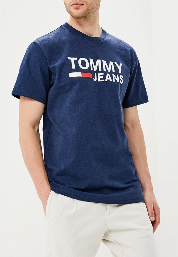 Футболка Tommy Jeans Tommy Jeans TO052EMBHRM2 шорты джинсовые tommy jeans tommy jeans to052emaihs7
