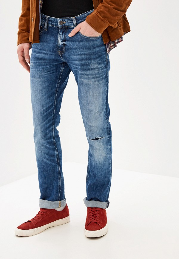 мужские прямые джинсы tommy jeans, синие