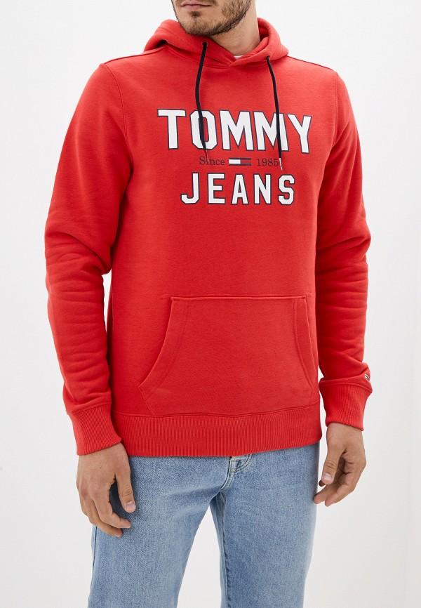 мужские худи tommy jeans, красные