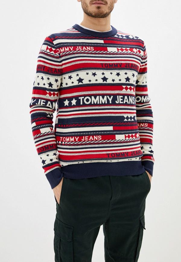 мужской джемпер tommy jeans, разноцветный