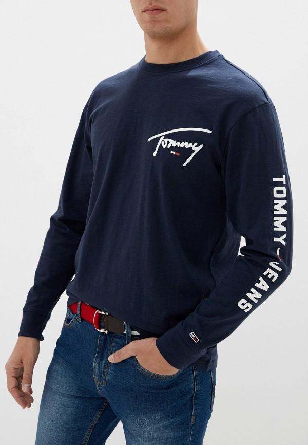 мужской лонгслив tommy jeans, синий