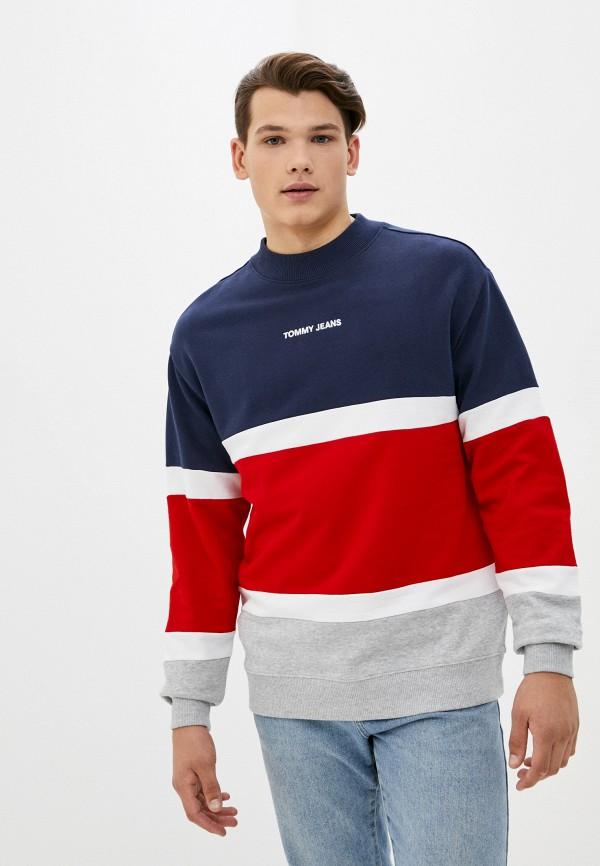 мужской свитшот tommy jeans, разноцветный