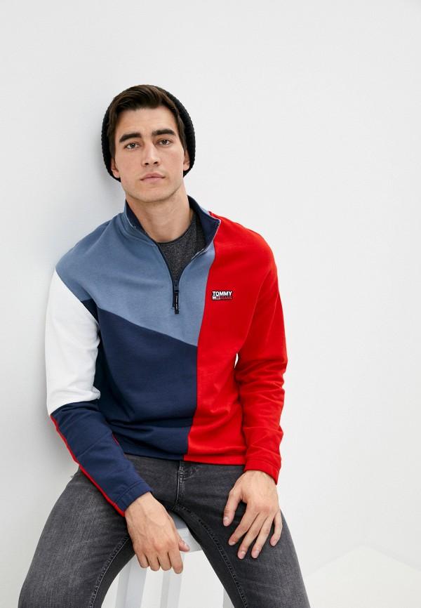 мужская олимпийка tommy jeans, синяя