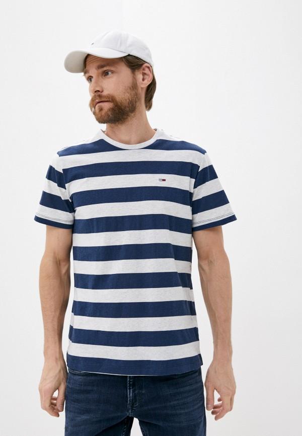 мужская футболка с коротким рукавом tommy jeans, разноцветная