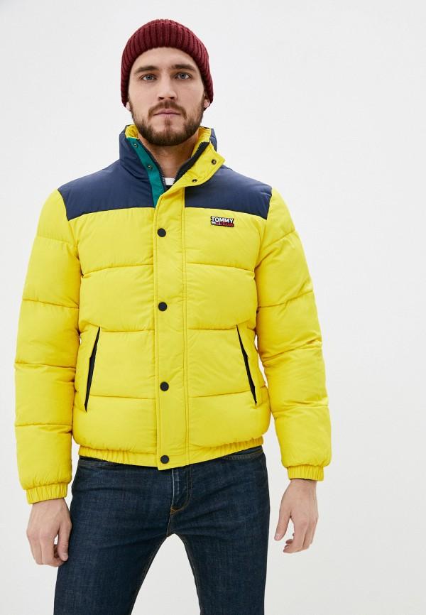 мужская куртка tommy jeans, желтая