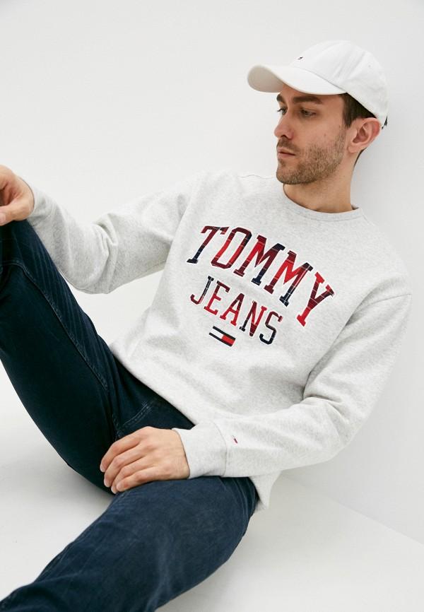 мужской свитшот tommy jeans, серый