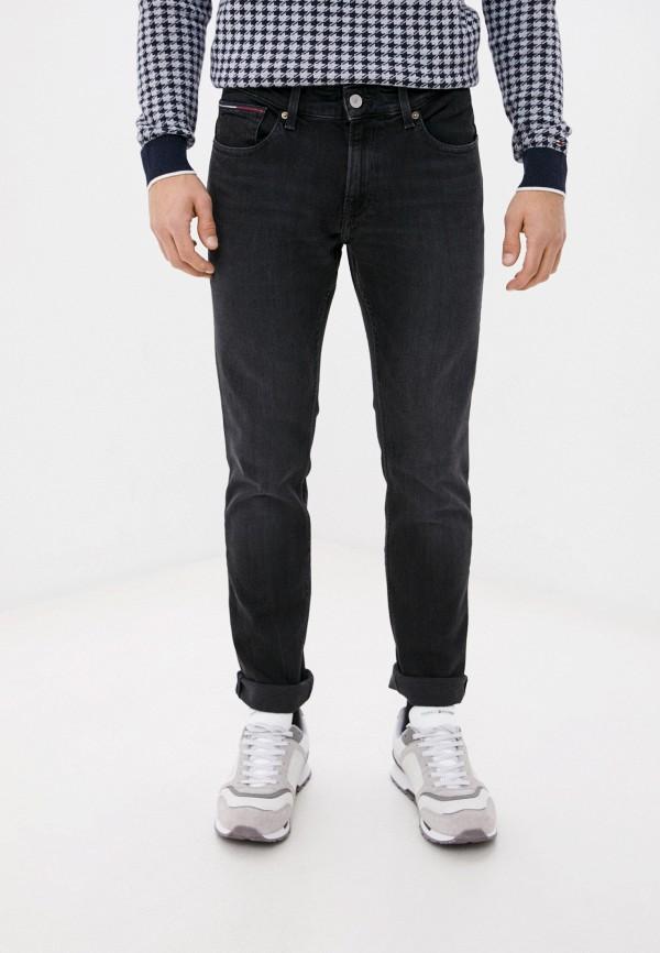 мужские зауженные джинсы tommy jeans, серые