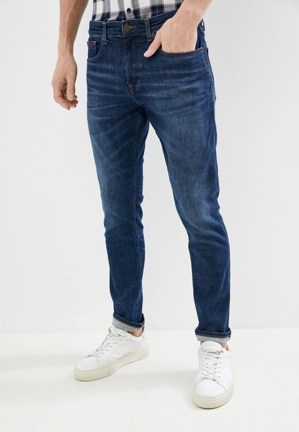 мужские зауженные джинсы tommy jeans, синие