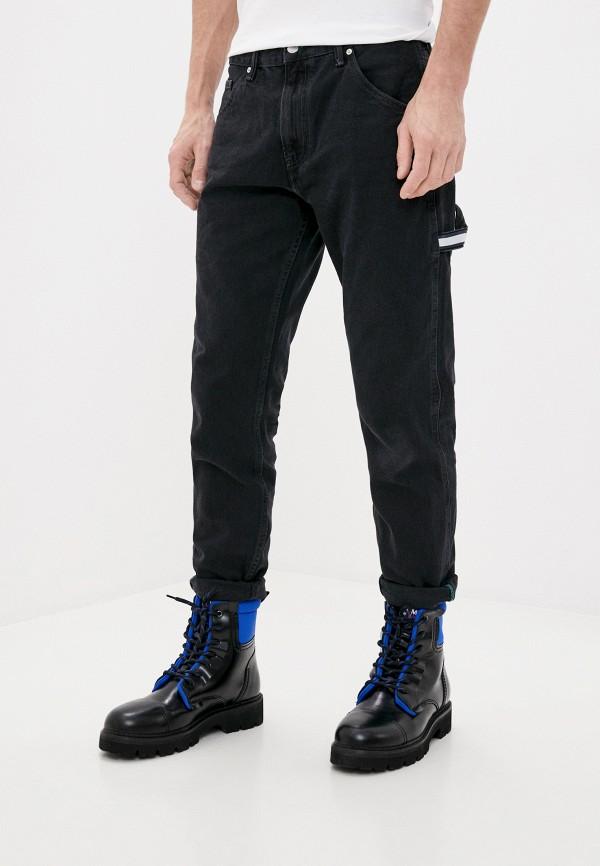 мужские прямые джинсы tommy jeans, черные