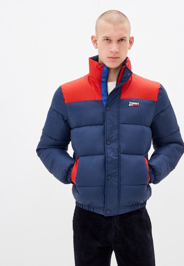 мужская куртка tommy jeans, синяя