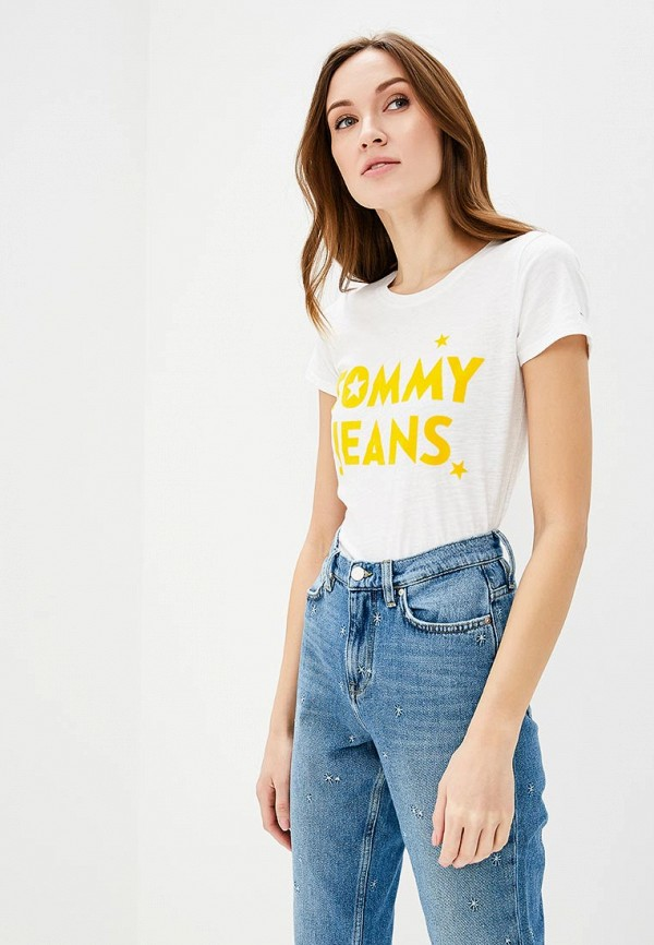 Футболка Tommy Jeans Tommy Jeans TO052EWAIJC2 свитшот tommy jeans tommy jeans to013emyzs95