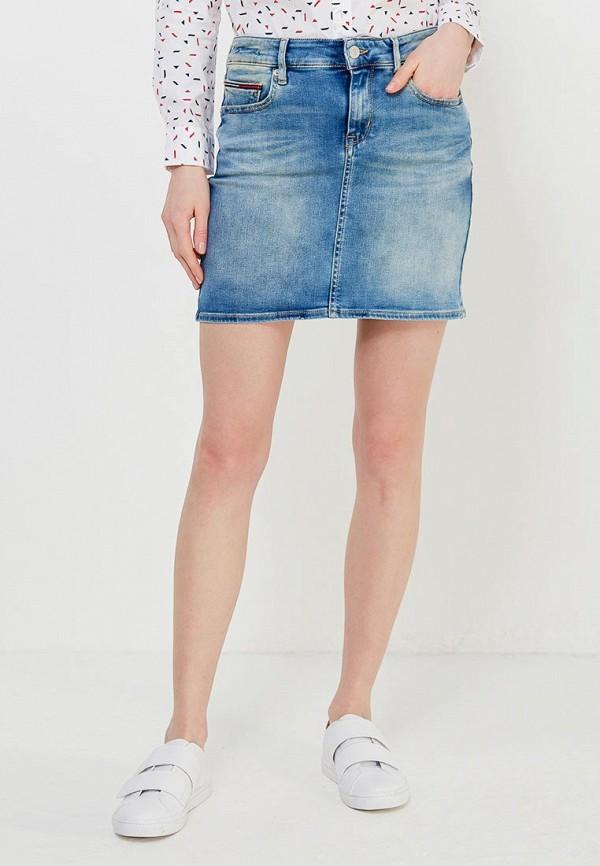 Юбка джинсовая Tommy Jeans Tommy Jeans TO052EWAIJD6 юбка tommy jeans tommy jeans to052ewaijc7