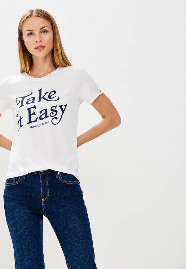 Футболка Tommy Jeans Tommy Jeans TO052EWBIDE2 футболка tommy jeans