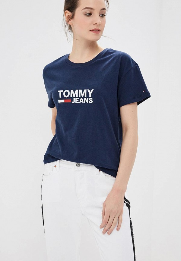 Футболка Tommy Jeans Tommy Jeans TO052EWBIDF2 футболка tommy jeans tommy jeans to052emaiig0