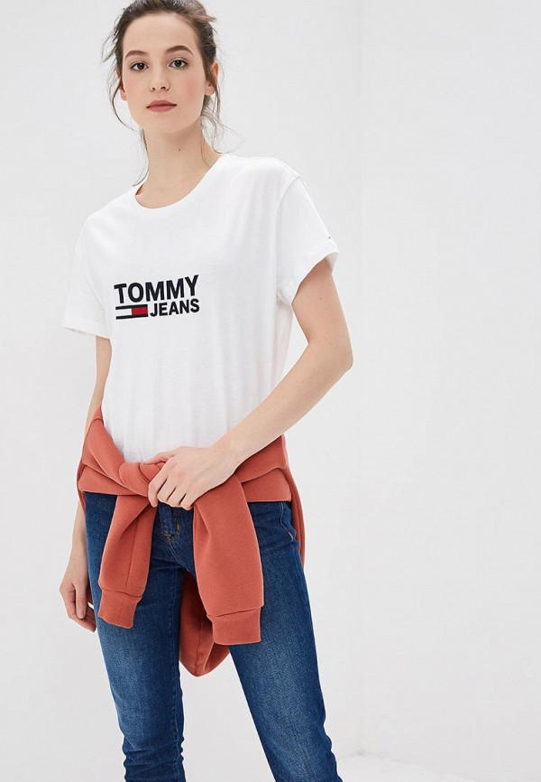 Футболка Tommy Jeans Tommy Jeans TO052EWBIDF3 футболка tommy jeans