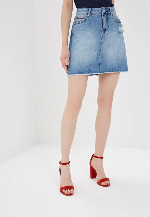 Юбка джинсовая Tommy Jeans Tommy Jeans TO052EWBIDI4 юбка tommy jeans tommy jeans to052ewaijc7