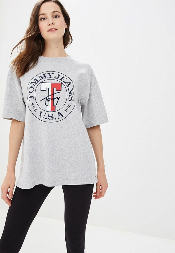 Футболка Tommy Jeans Tommy Jeans TO052EWBWGH1 свитшот tommy jeans tommy jeans to013emyzs95