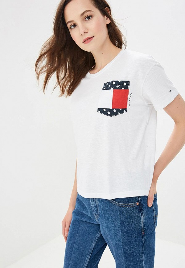 Футболка Tommy Jeans Tommy Jeans TO052EWBWGI3 футболка tommy jeans tommy jeans to052ewbwgj0