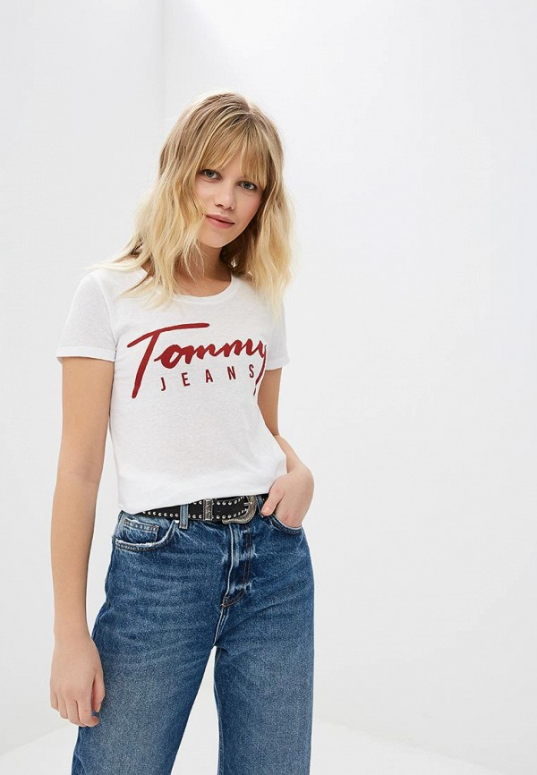 Футболка Tommy Jeans Tommy Jeans TO052EWDECI5 футболка tommy jeans tommy jeans to052emaiig0