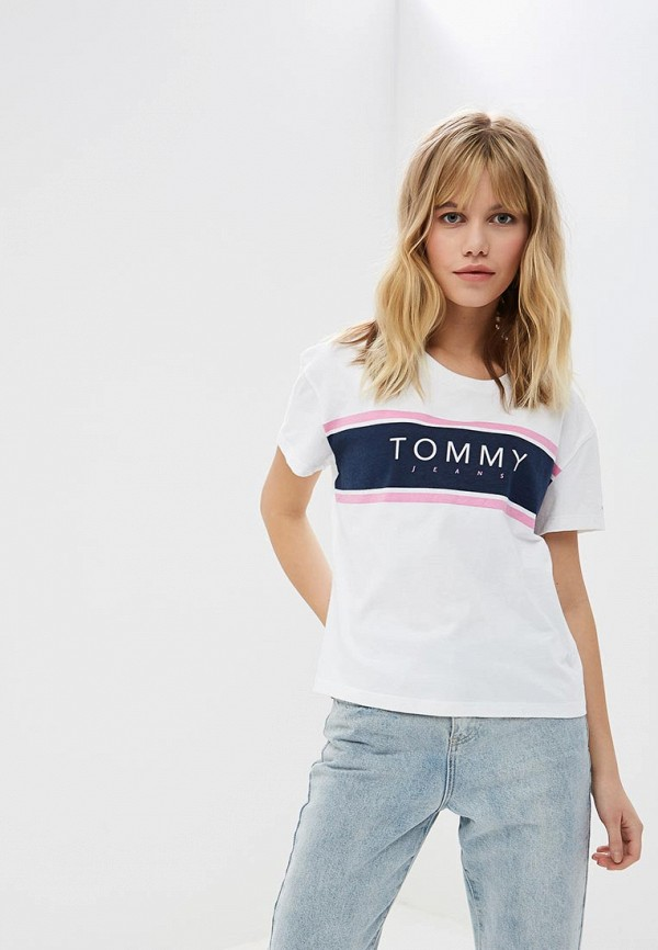 Футболка Tommy Jeans Tommy Jeans TO052EWDECJ5 футболка tommy jeans tommy jeans to052ewbida4